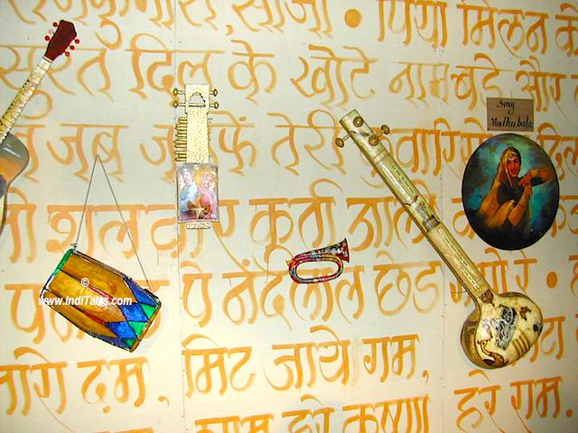 Bollywood Songs make a wall Mural at Kala Ghoda Arts Festival, Mumbai 2006