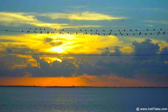 Sunset scene at Galveston