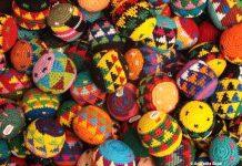 Colorful Woolen Caps at San Antonio Market