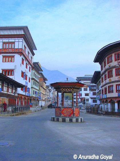 Traffic Square at Thimpu, Bhutan