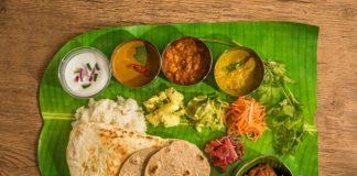 South Indian Thali on Banana Leaf at MTR Bangalore