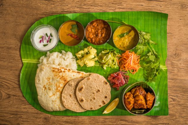 South Indian Thali on Banana Leaf at MTR Bangalore