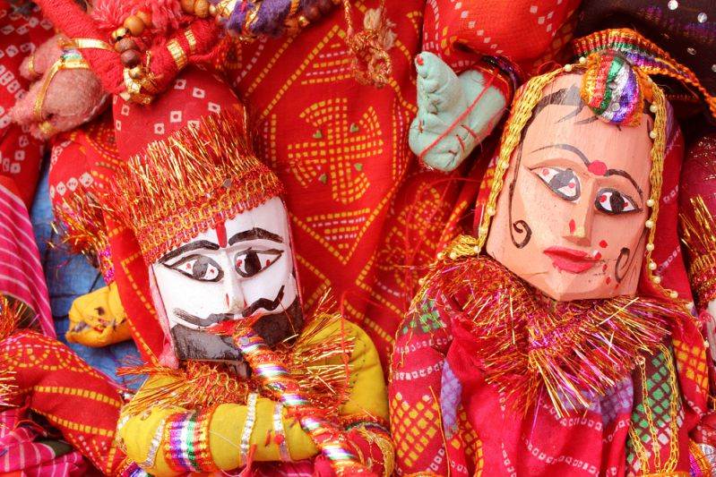 Kathputli or Puppets from Rajasthan