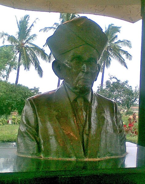 Bust of Bharat Ratna Visvesvaraya at Muddenahalli