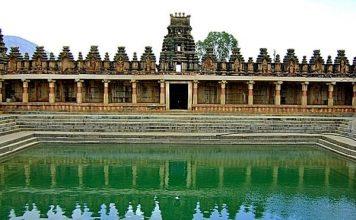 Tank at Bhoga Nandeeshwara temple, Nandi Hills