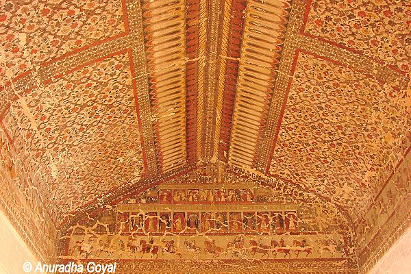 Ceiling Murals at Orchha