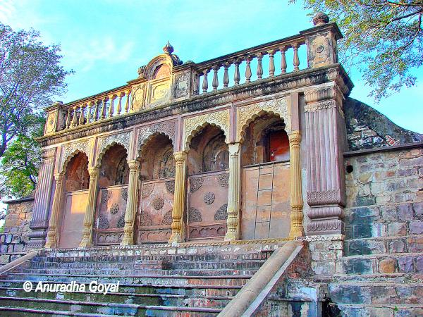 Inside the fort of Jhansi Ki Rani