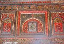 Painted walls of the palace of Jhansi Ki Rani