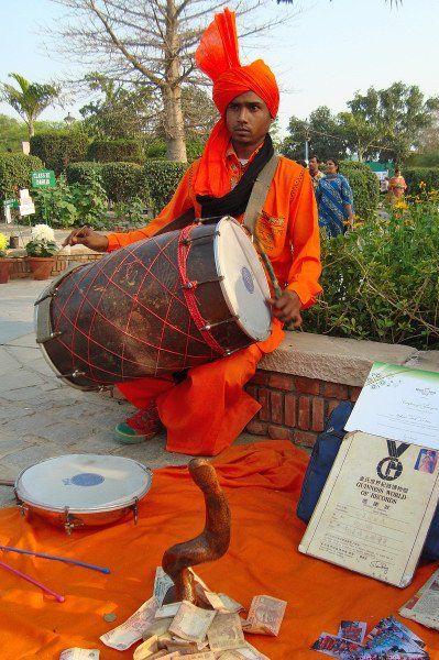 Folk artist performing at Garden of 5 Senses