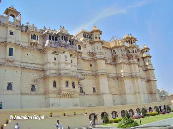 Front view of City Palace, Udaipur, Rajasthan