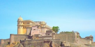 Landscape view of Kumbhalgarh Fort, Rajasthan