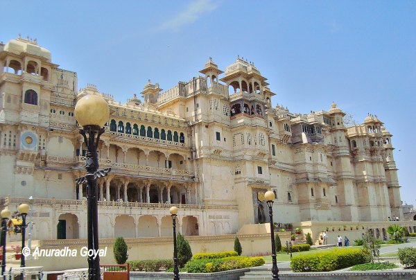 City Palace front view, Udaipur