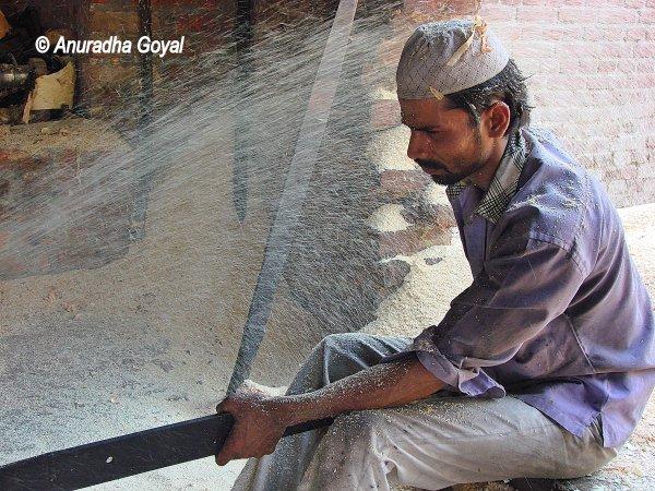 Dholaks getting ready at Amroha, Uttar Pradesh