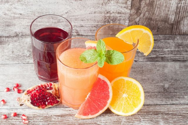 Seasonal fruit juices or Sharbat nutritious natural products