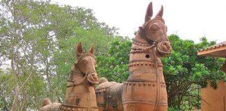 Terracotta Horses at Anandgram