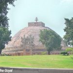 Landscape view of the Sanchi Stupa, Madhya Pradesh