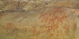 Prehistoric Rock Paintings at Bhimbetka caves