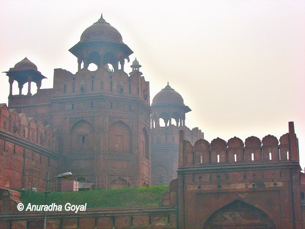 Ramparts of Red Fort Delhi