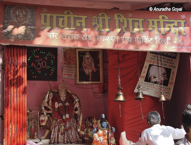 Shiv Mandir at Mor Sarai in Shahjahanabad, Old Delhi