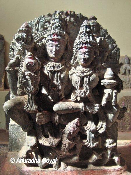Shiva Parvati Stone carved Idols at Keladi, Sagar