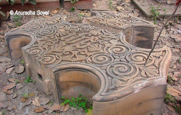 Stone at Lothian Cemetery Delhi, 1857 revolution walking trail