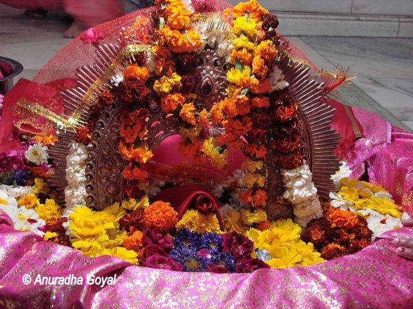 Idol of Goddess Yogmaya Temple at Mehrauli
