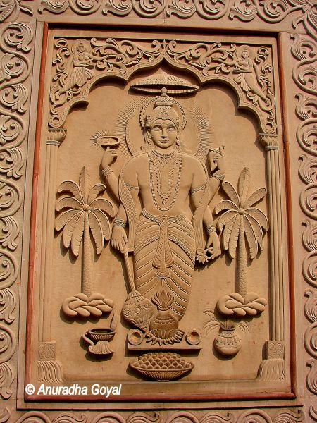 Vishnu Carving on walls of Yogmaya Temple