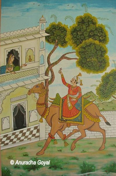 Momal and Mahendra Love Story on Miniature Painting, Urusvati Museum