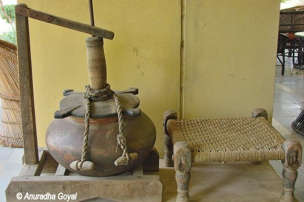 Traditional Lassi making Equipment at Urusvati Museum