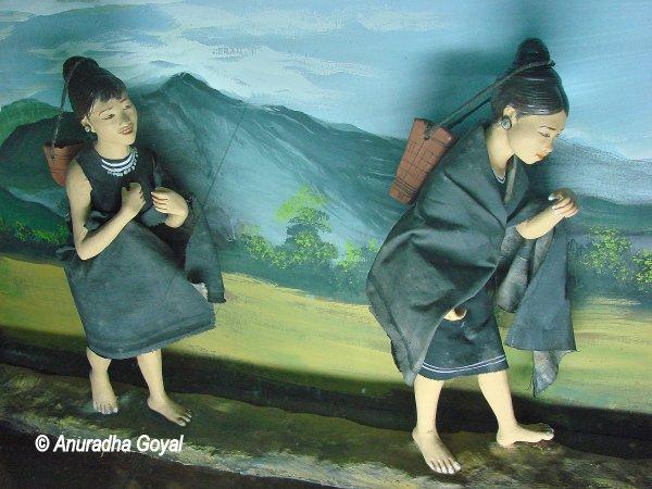 Diorama showing tribal life at Tribal Museum, Delhi