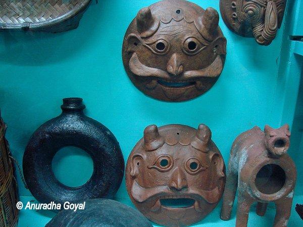 Masks on display at Tribal Museum, Delhi