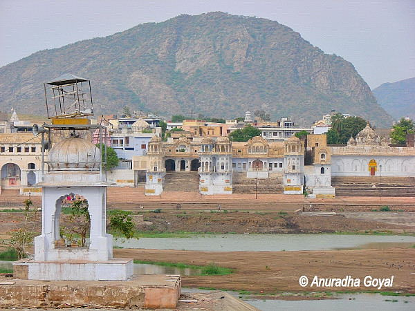 The Pushkar Lake in summers