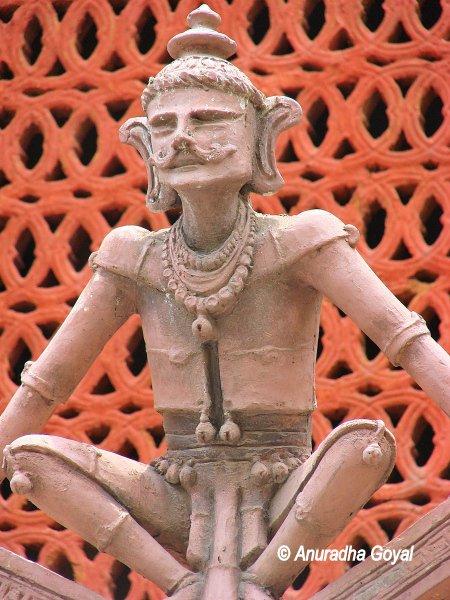 Terracotta figure outside Tribal Museum, Delhi