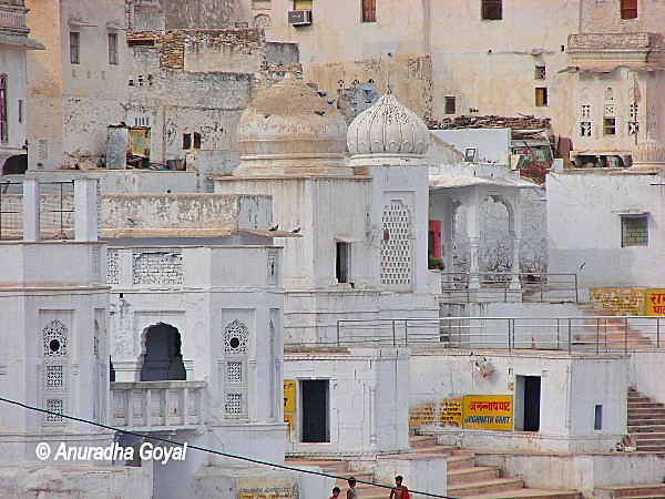 White Ghats at Pushkar