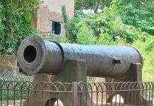 Dalmadal Canon at Bishnupur Town, Bengal