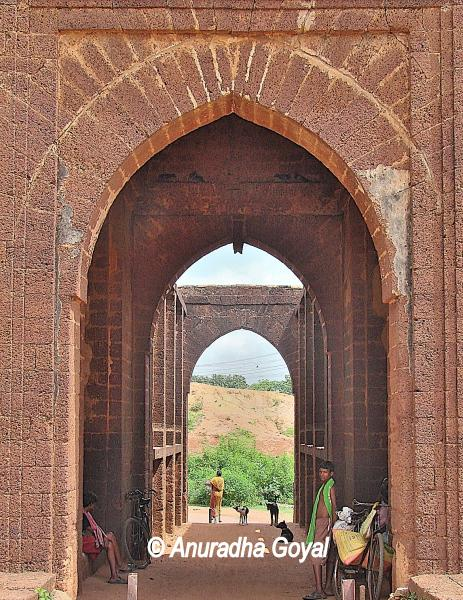 Gateway to the fort at Bishnupur