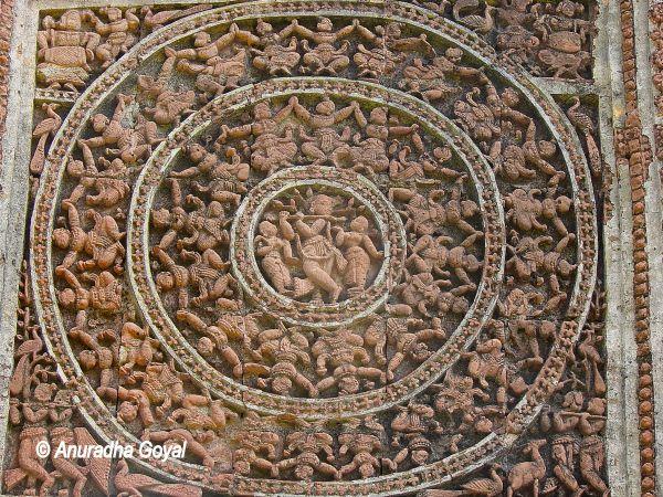 Krishna Lila panel at Shyam Rai Temple