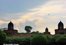 Landscape view of Bishnupur Terracotta Temples