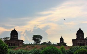 Landscape view of Bishnupur Terracotta Temples