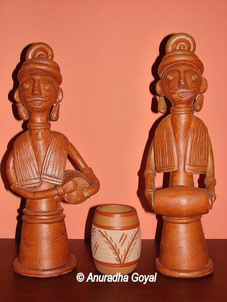Terracotta artifacts of Art Mart of Bishnupur