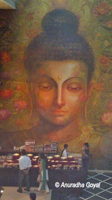 Giant Buddha painting