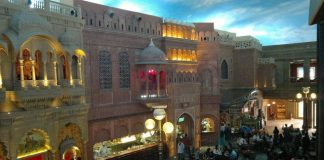 Indian Bazaar scene at the Kingdom of Dreams