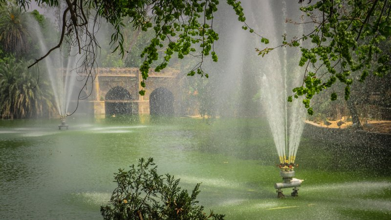 Fountains at Lodhi Garden - Delhi