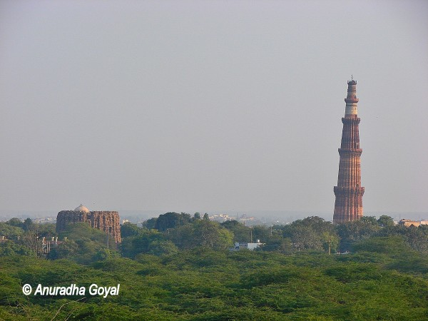 Qutub Minar & Alai Minar view from Lal Kot, Delhi