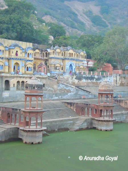 Sagar lake with ghat like stairs on all four sides