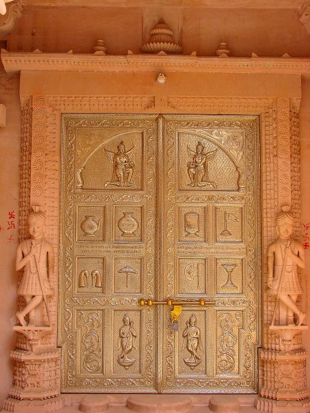 A Temple door at Farrukhnagar