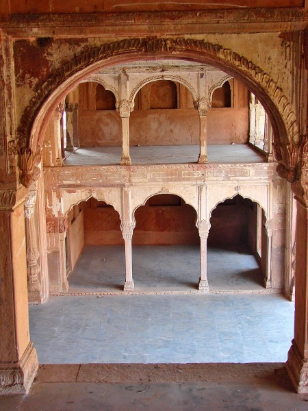 Inside view of the Sheesh Mahal at Farrukhnagar