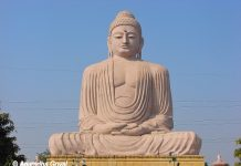Giant Buddha statue at Bodh Gaya in Bihar