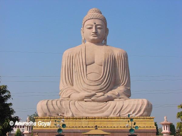 Giant Buddha statue at Bodh Gaya in Bihar