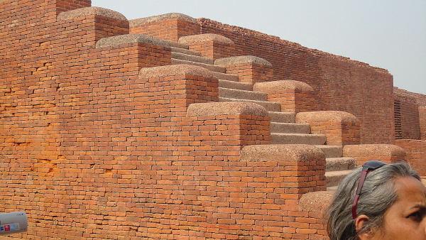 1600 year old red bricks that still look new at Nalanda